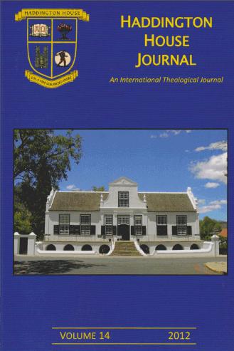 Haddington House Journal volume 14 online