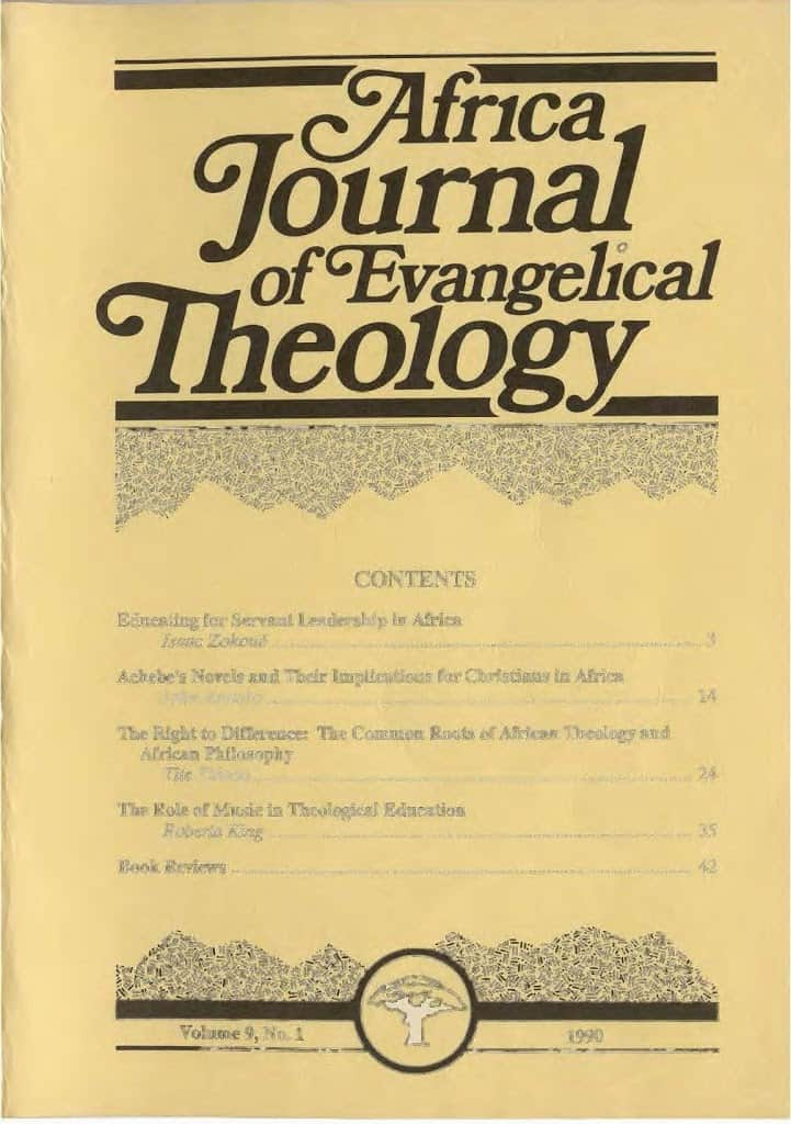 Africa Journal of Evangelical Theology Vols. 9-20 Now Online