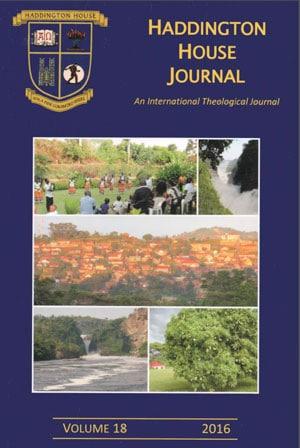 Haddington House Journal Vol 18 (2016)