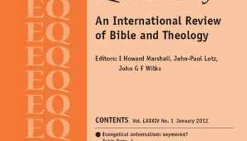 Evangelical Quarterly Vol 84 (2012)