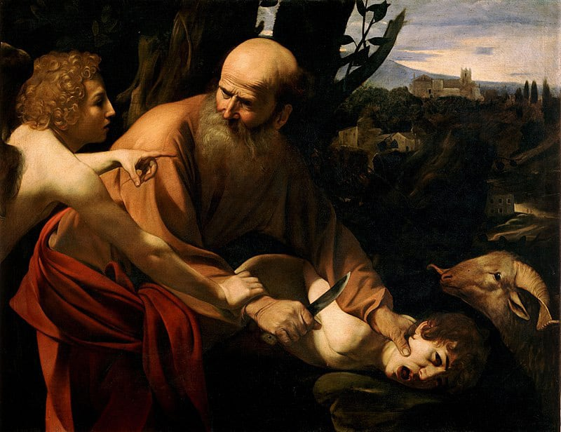 Caravaggio's Sacrifice of Isaac - public domain - Source: Wikipedia
