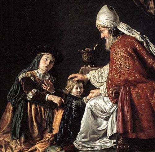 Hannah presenting Samuel to Eli, by Jan Victors, 1645.