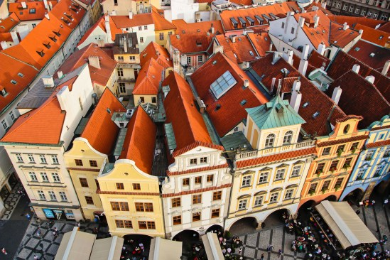 View over the rooftops of Prague from the observation deck