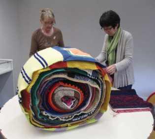 echarpe tricot crochet 42 metres de long déols