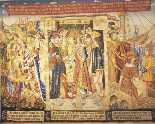 Despedida de Colón de los Reyes Católicos2