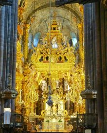 The altar of the Cathedral of Santiago de Compostela
