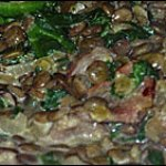 Lentil adaptations: Creamy Lentils with Bacon