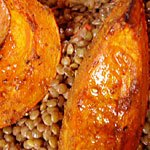 Racing time: Roasted Squash and Puy Lentil Salad