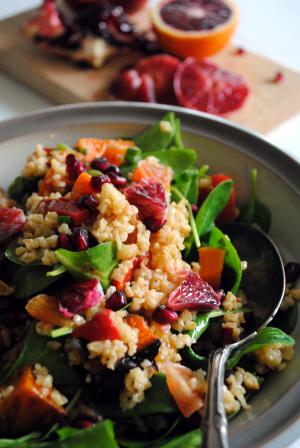 Bibliocook.com - Roast Vegetable, Blood Orange, Pomegranate, Bulgur Salad - 300