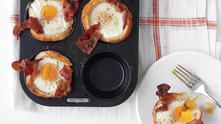 Martha Stewart Bacon Egg and Toast Cups
