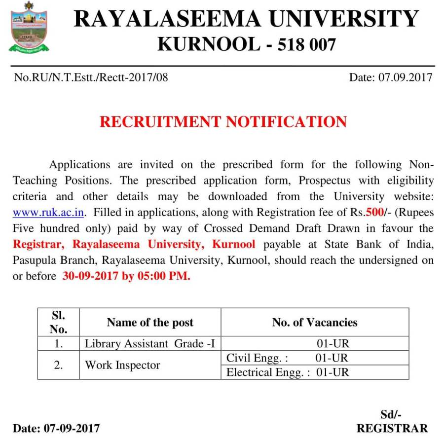 Notification for Recruitment of Non-Teaching Positions-2017-1.jpg