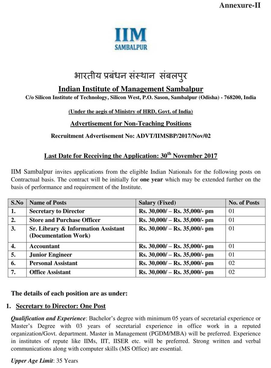 IIM_Sambalpur_Recruitment-DetailedAdvertisement-1