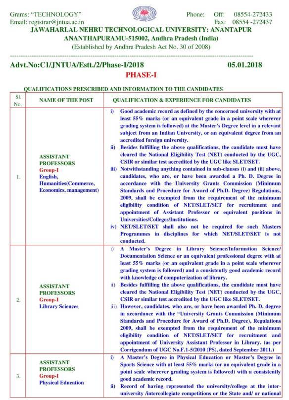 Jntu Anantapur Registrar Contact Number Gastronomia Y Viajes