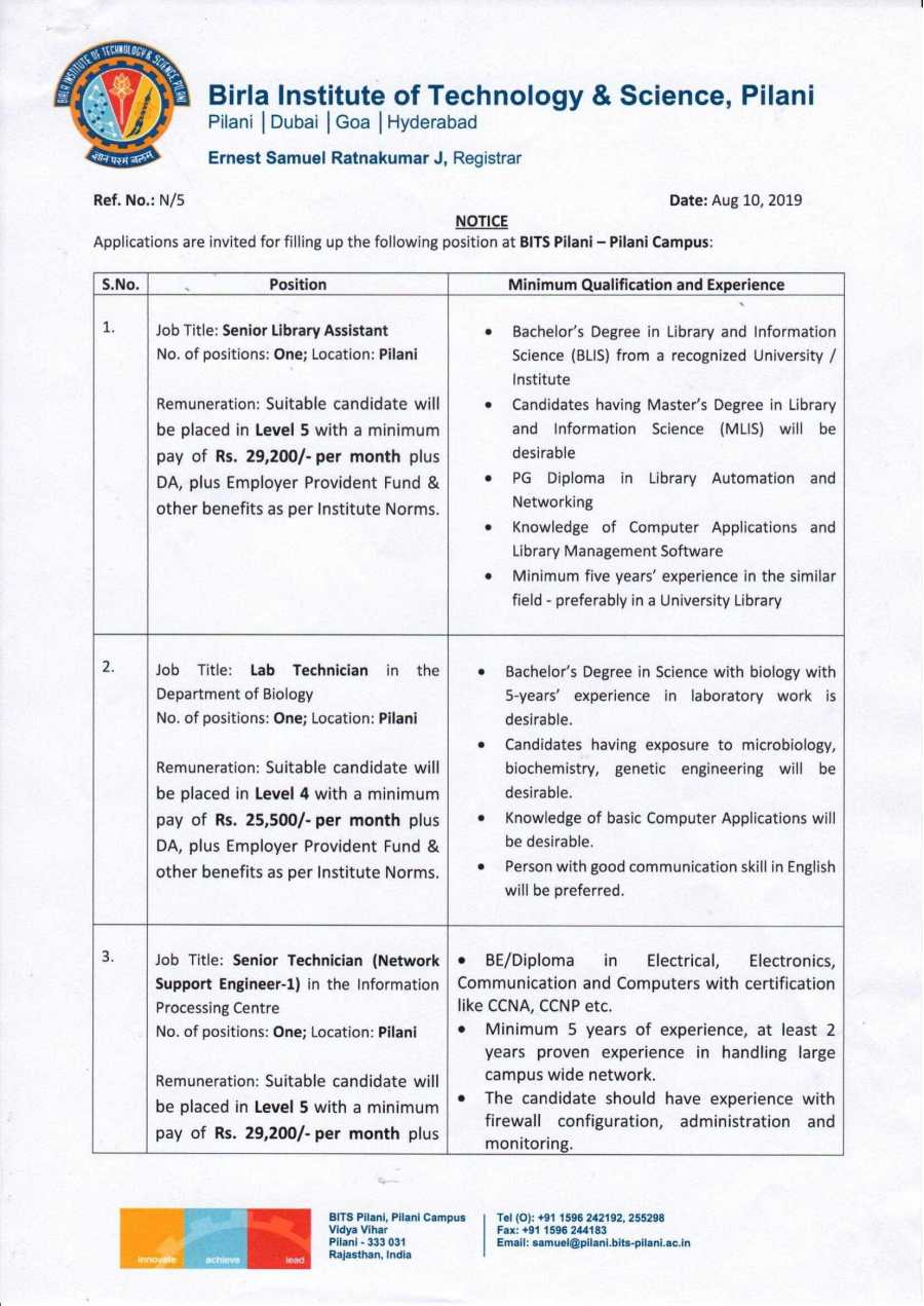 NT Recruitment Notification_Pilani Campus_Aug 10, 2019-1.jpg