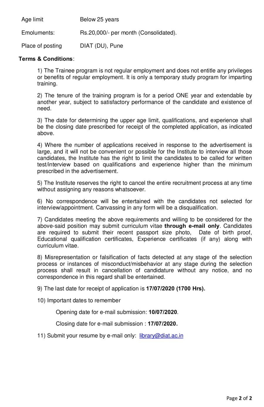 Advt No 02-NTS-2020-Lib-2