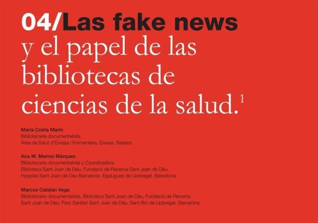 Las fake news y el papel de las bibliotecas de ciencias de la salud