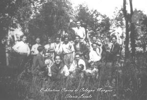 E' domenca lungo le rive del fiume Lambro 1940