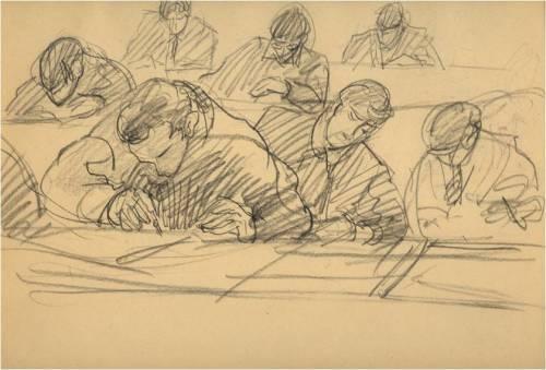 Clase de dibujo, ca. 1934