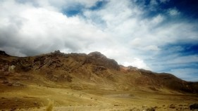 Cordillera de los Andes. Subimos hasta 4.970 metros de altura.