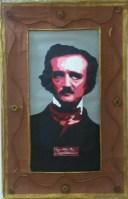 Retrato de Poe, realizado por los chicos del taller de artesanía