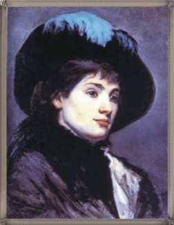автопортрет в шляпе с пером, 1878