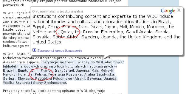 manipulacja czy błędne tłumaczenie google?