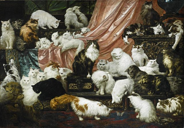 My Wife's Lovers by Carl Kahler (1893)  Peculiar Cat Funerals in the Victorian