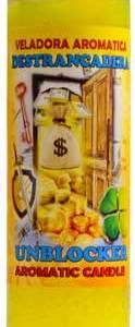 Unblocker (Destrancadera) aromatic jar candle.CJAUNB