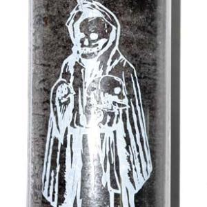 Holy Death black 7 day jar candle. CJHOLDB_Z