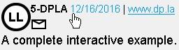 Screenshot einer LL-Lizenzanzeige