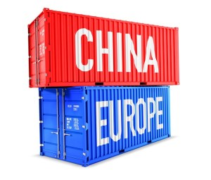 transport par container depuis l'Asie