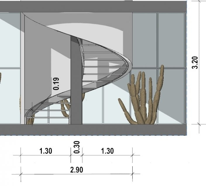 Technical Guide To A Spiral Staircase Design Biblus | Curved Staircase Design Plans | Slightly Curved | Stainless Steel | Wood | House | Curved Stairway