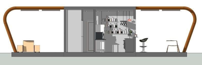 conception d un kiosque bar plans