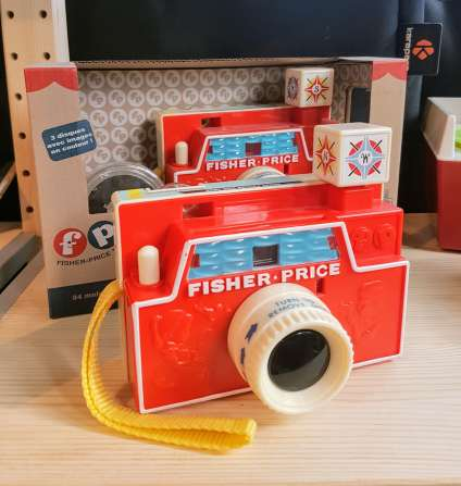 Appareil photo Vintage de Fisher Price ©biboucheetbibouchon