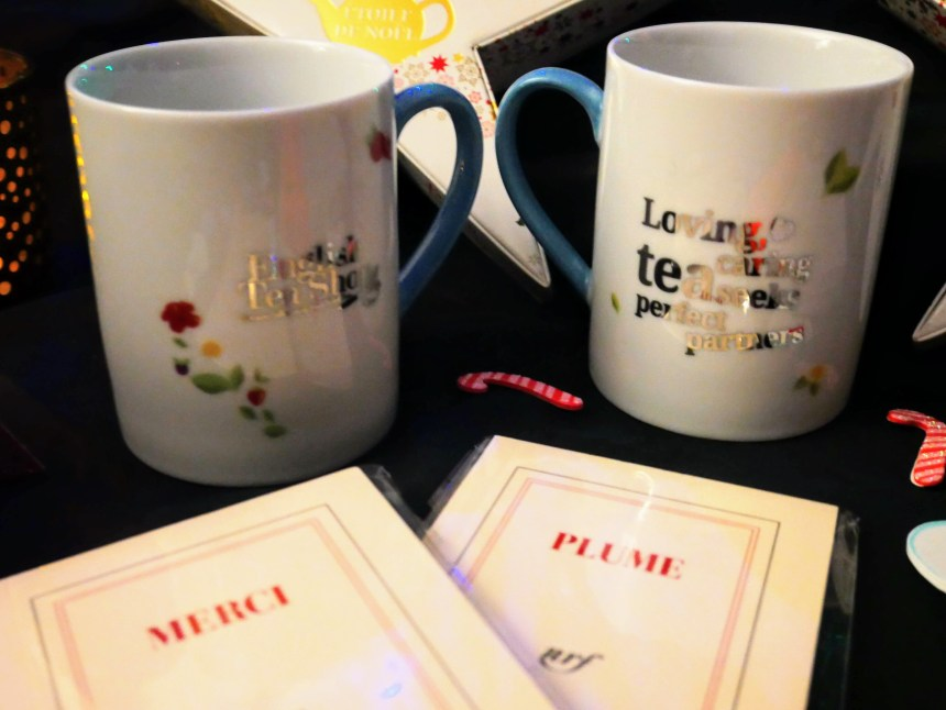 Tasses English tea shop et carnets nrf Gallimard ©biboucheetbibouchon
