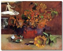 Paul Gauguin- Sunflowers with Puvis de Chavannes's Hope