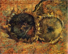 Van Gogh- Deux Tournesoles Coupes (1887)
