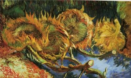 Van Gogh- Quatre Fleurs de Tournesol Fanees (1887)