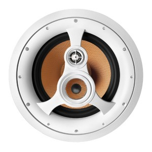 """Acoustech H310C - 250W 3-Way 10"""" Woven Fiber In-Ceiling Speaker without cover on"""
