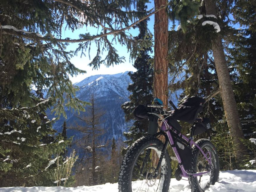 fatbike snow handmade bice aosta valley bikepacking