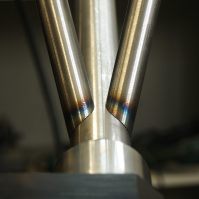 perfect mitering for a tig welding in bespoke framebuilding