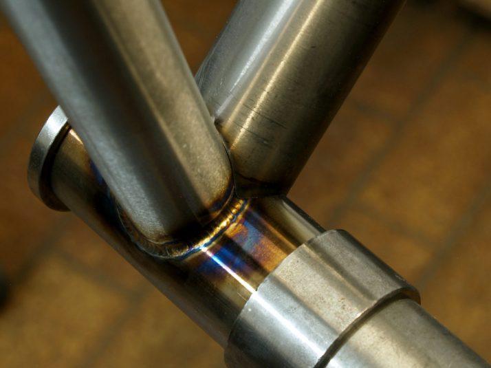 bottom bracket tig welding mitering bespoke custom handmade framebuilding