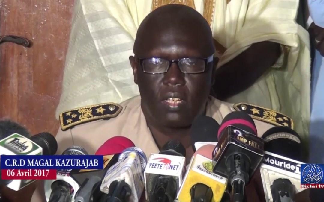 C R D MAGAL KAZURAJAB 06 AVRIL 2017 A DIOURBEL SOUS LA PRESENCE DE SERIGNE ABDOU FATA MBACKE
