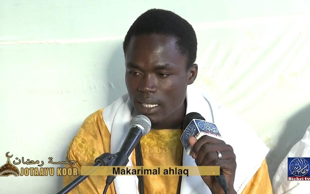 Jotaayu Koor theme Makarimal ahlaq