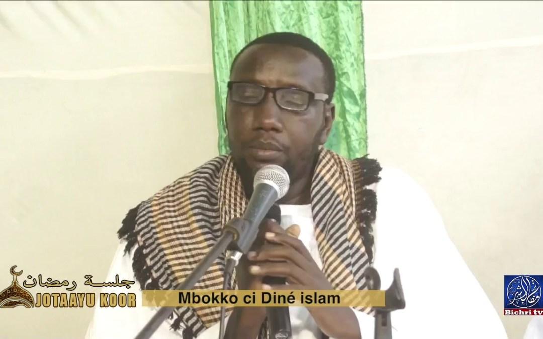 Jotaayu Koor theme Mbokko ci diné islam