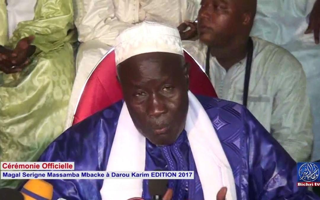 Magal Serigne Massamba à Darou Karim EDITION 2017 Cérémonie Officielle P2