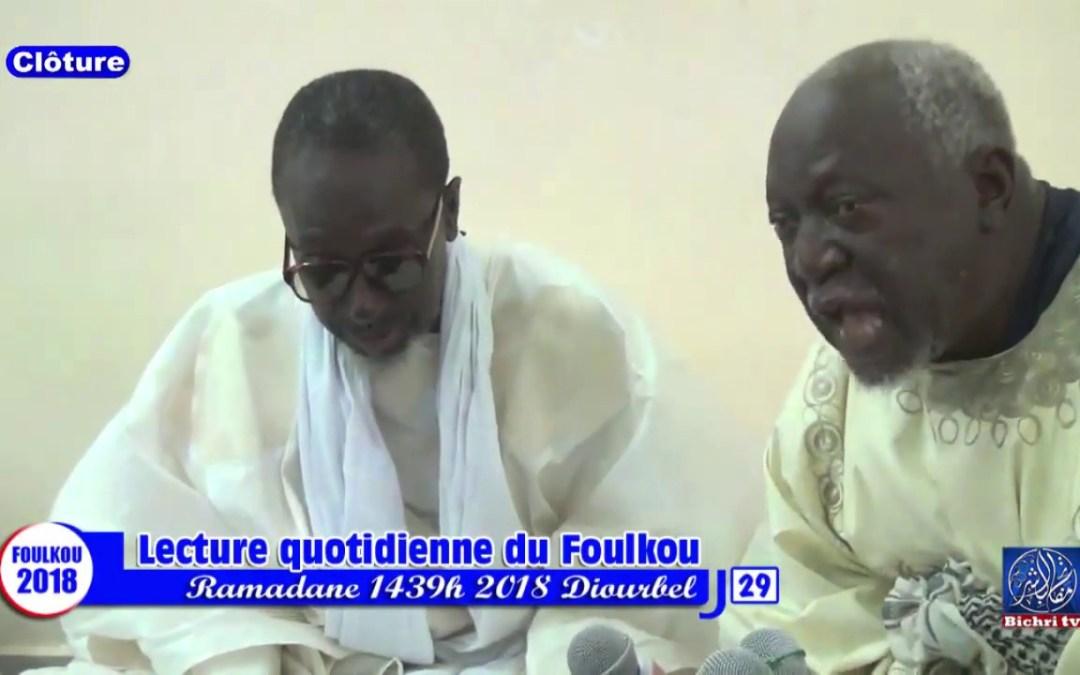 Clôture Foulkou Diourbel jour 29 Discours de Serigne Fallou ibn S.Bassirou MBACKE