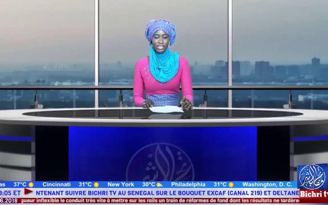 Journal Arabe du Vendredi 29 Juin 2018 avec Sokhna Astou Ndiaye