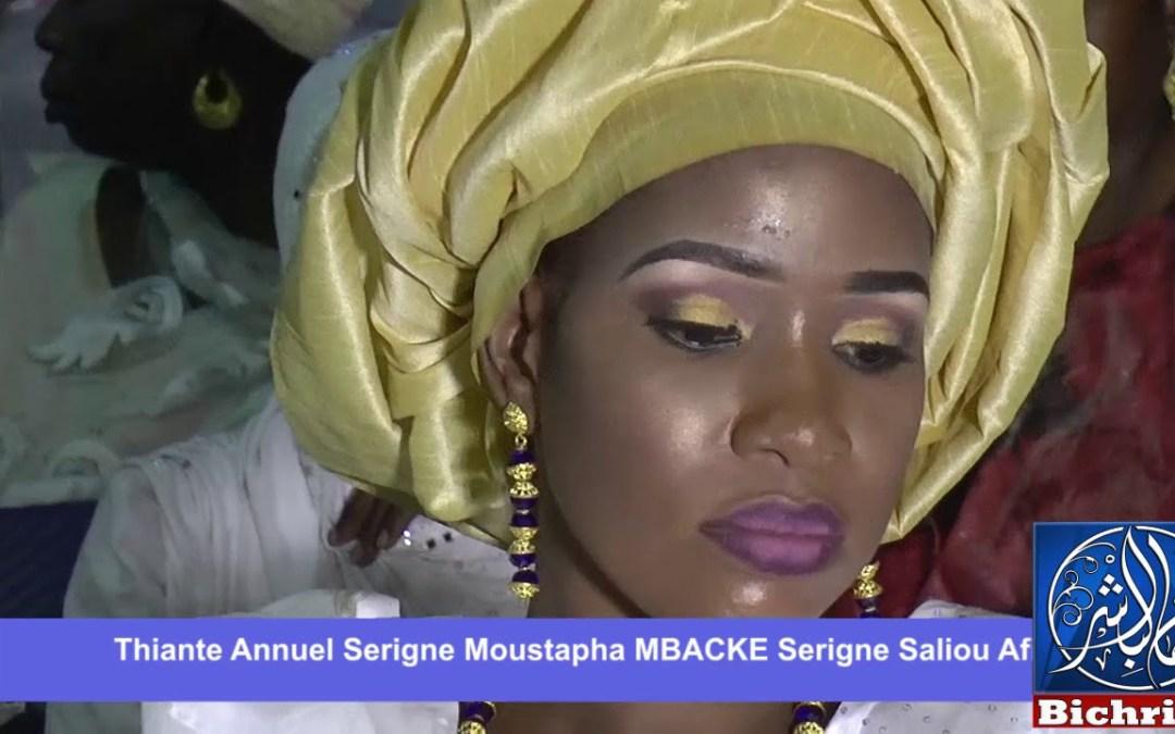 THIANTE  ANNUEL SERIGNE MOUSTAPHA MBACKE SALIOU AFIA DIOURBEL