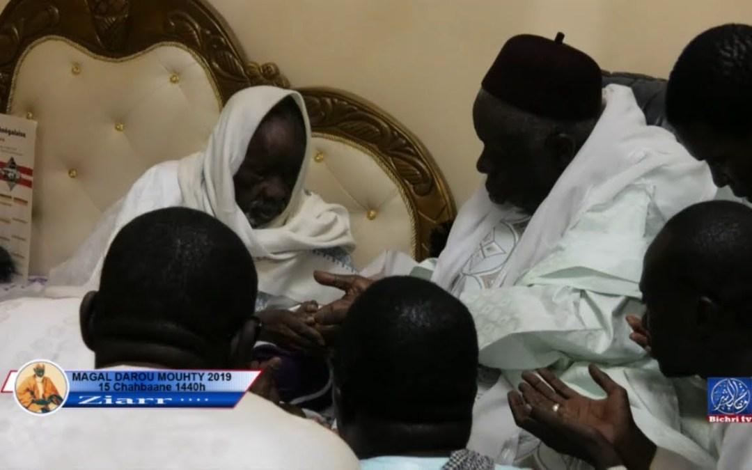 Visite de Serigne Cheikh Say Mbacke a Darou Mouhty aupres du khalif